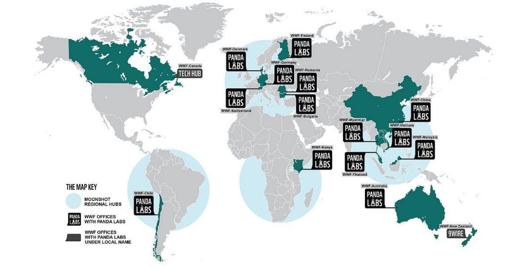 WWF Panda Labs World Map